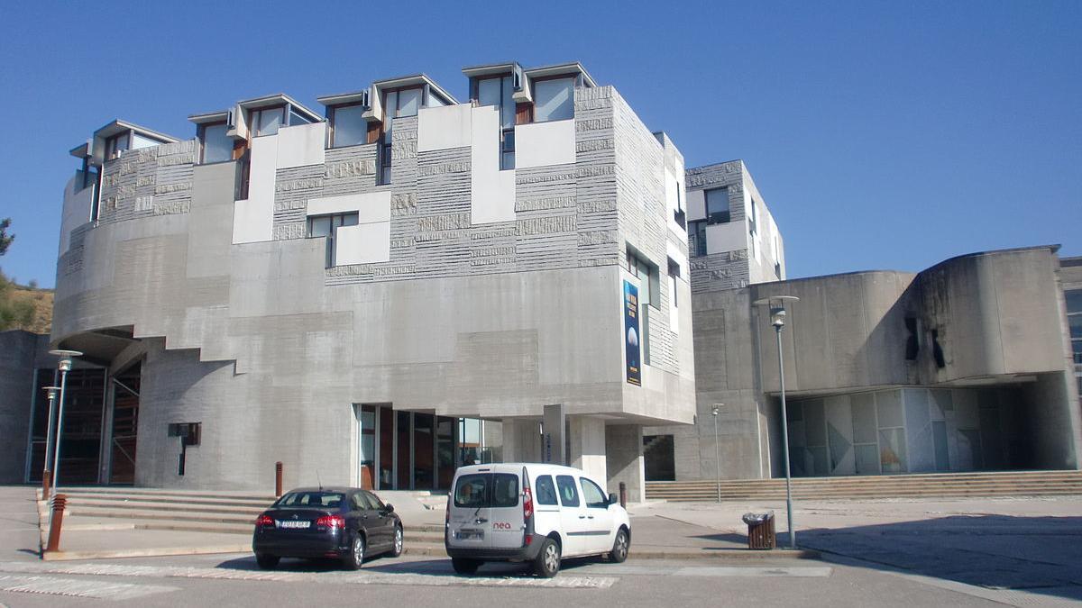 Imagen del rectorado de la Universidade de Vigo.
