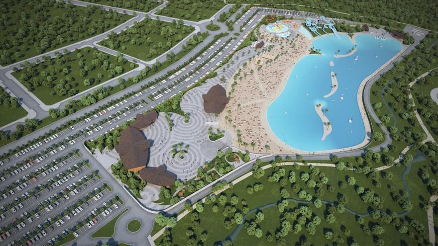 Playa artificial que planea construir el Grupo Rayet en Alovera FOTO: Grupo Rayet