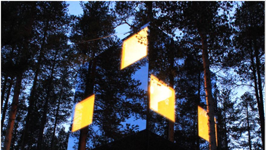 The Mirrorcube Tree House Hotel en Suecia