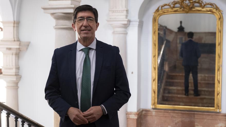 Juan Marín, vicepresidente de la Junta de Andalucía y líder regional de Ciudadanos.