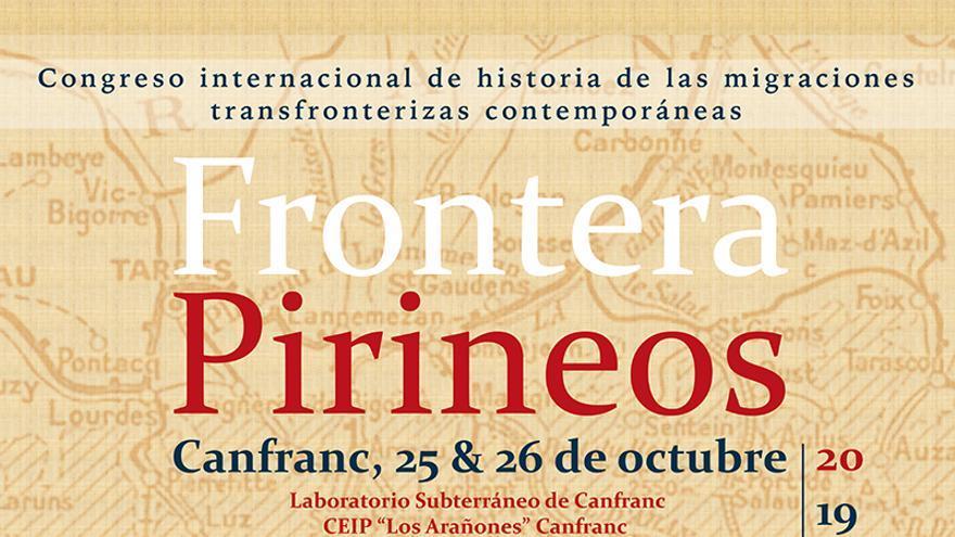 """Cartel del congreso """"Frontera Pirineos"""""""