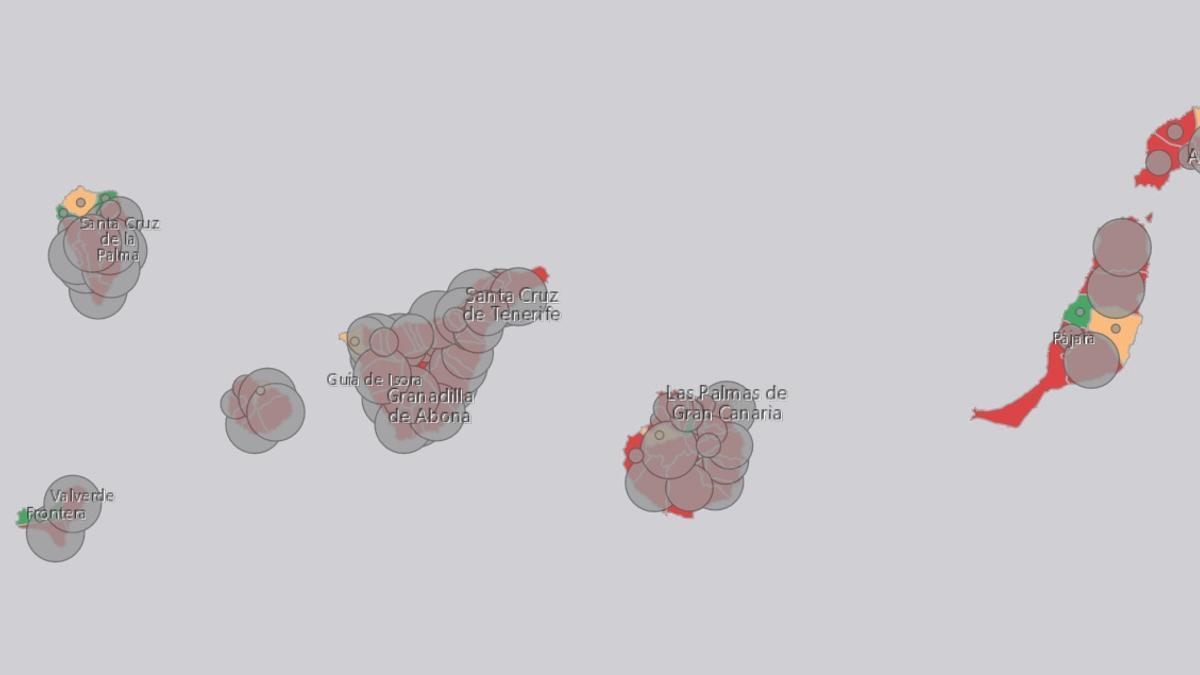 Incidencia del virus en Canarias. (Consejería de Sanidad).