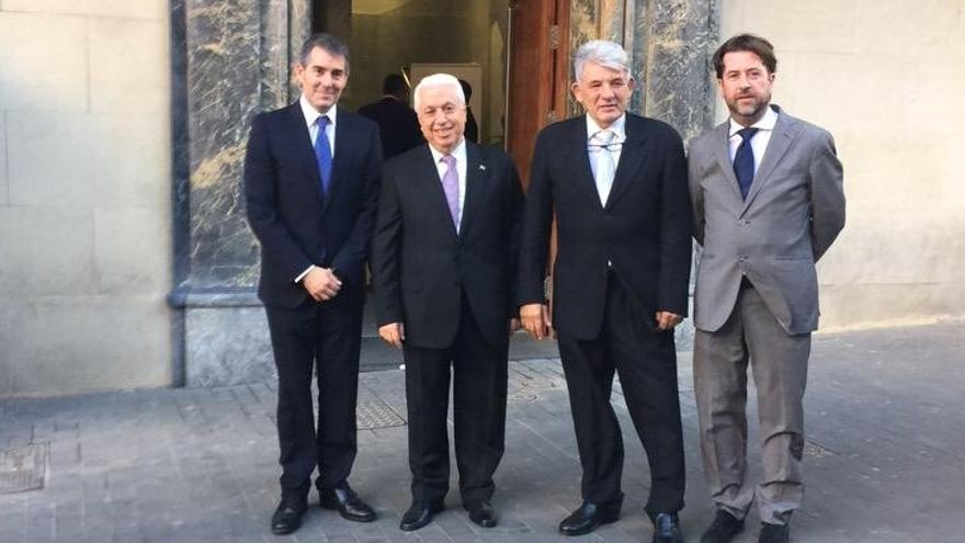 Fernando Clavijo, Amid Achi, José Luis García y Carlos Alonso (de izda a dcha)