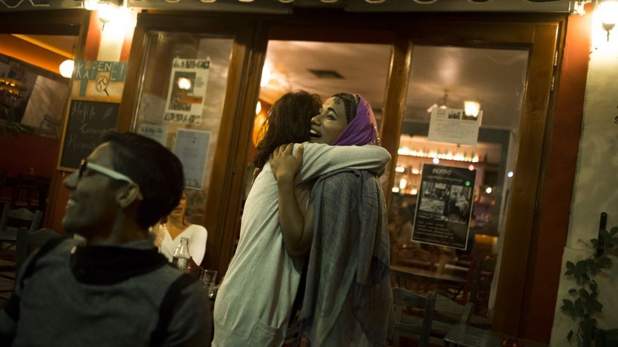 Ovil, refugiada transexual, en Lesbos.