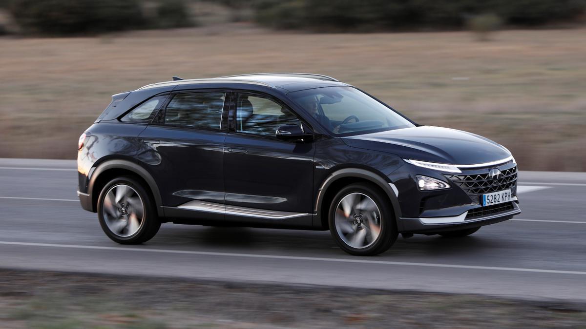 Hyundai Nexo, uno de los dos modelos de pila de combustible de hidrógeno a la venta en España.