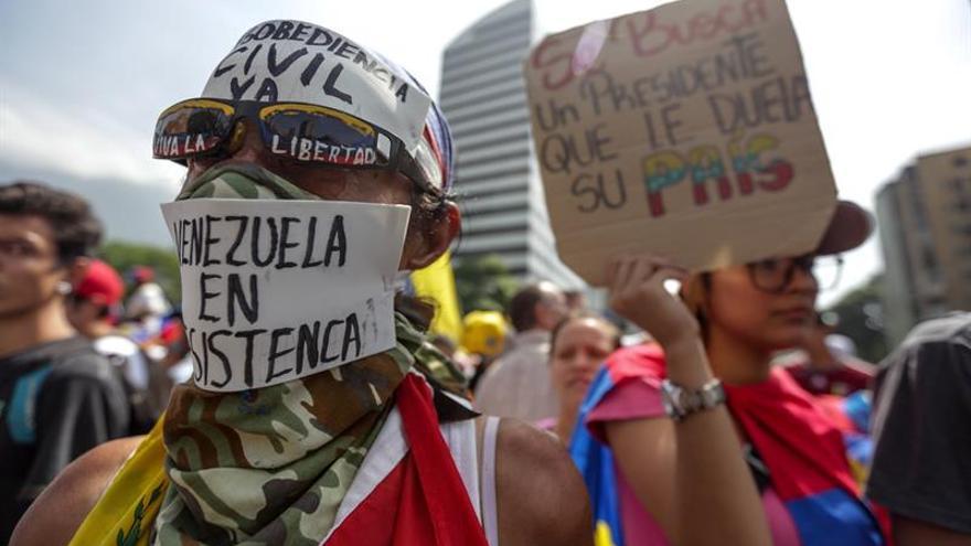 Un detenido por el asesinato de una mujer durante una protesta en Venezuela