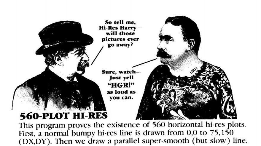 Harry High-Res dando absurdas explicaciones a su interlocutor en esta viñeta de Beagle Bros