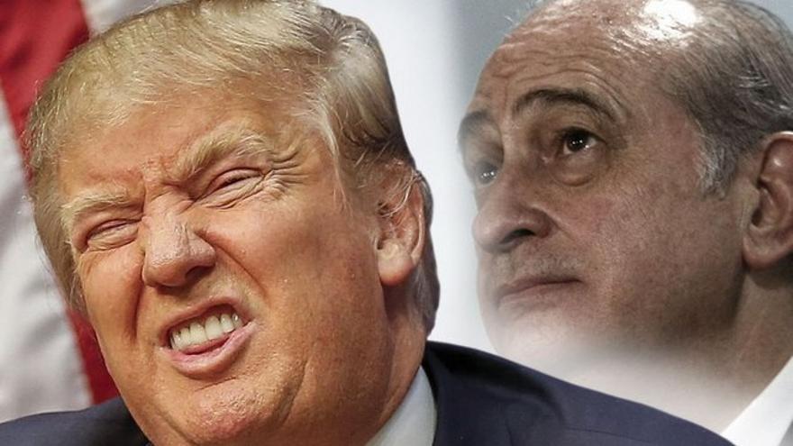 Donald Trump, presidente de EE.UU y Jorge Fernández Díaz, ex ministro del Interior