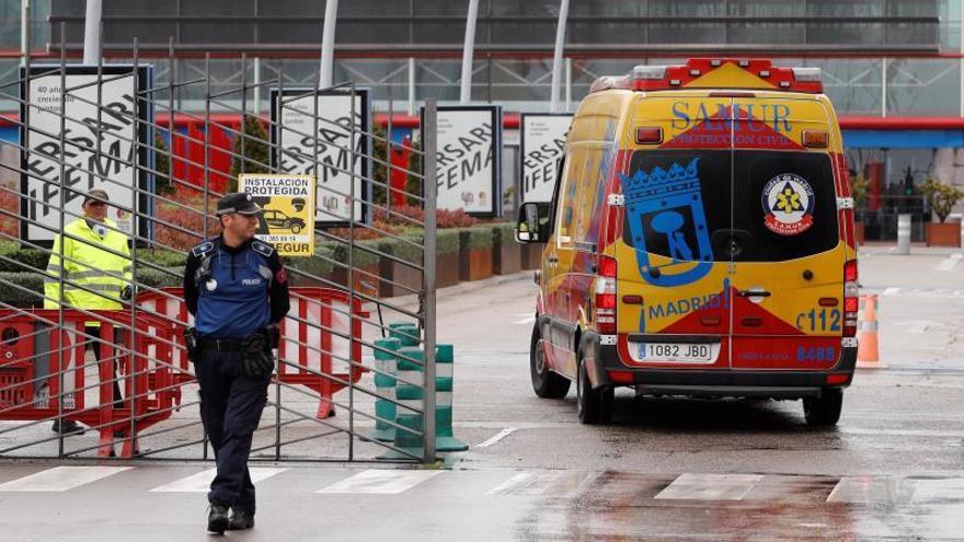 Madrid suma 215 muertos con coronavirus, una veintena menos que ayer