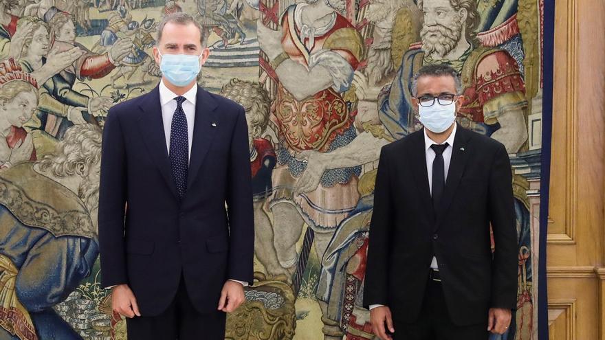 El rey se reúne con el director de la Organización Mundial de la Salud