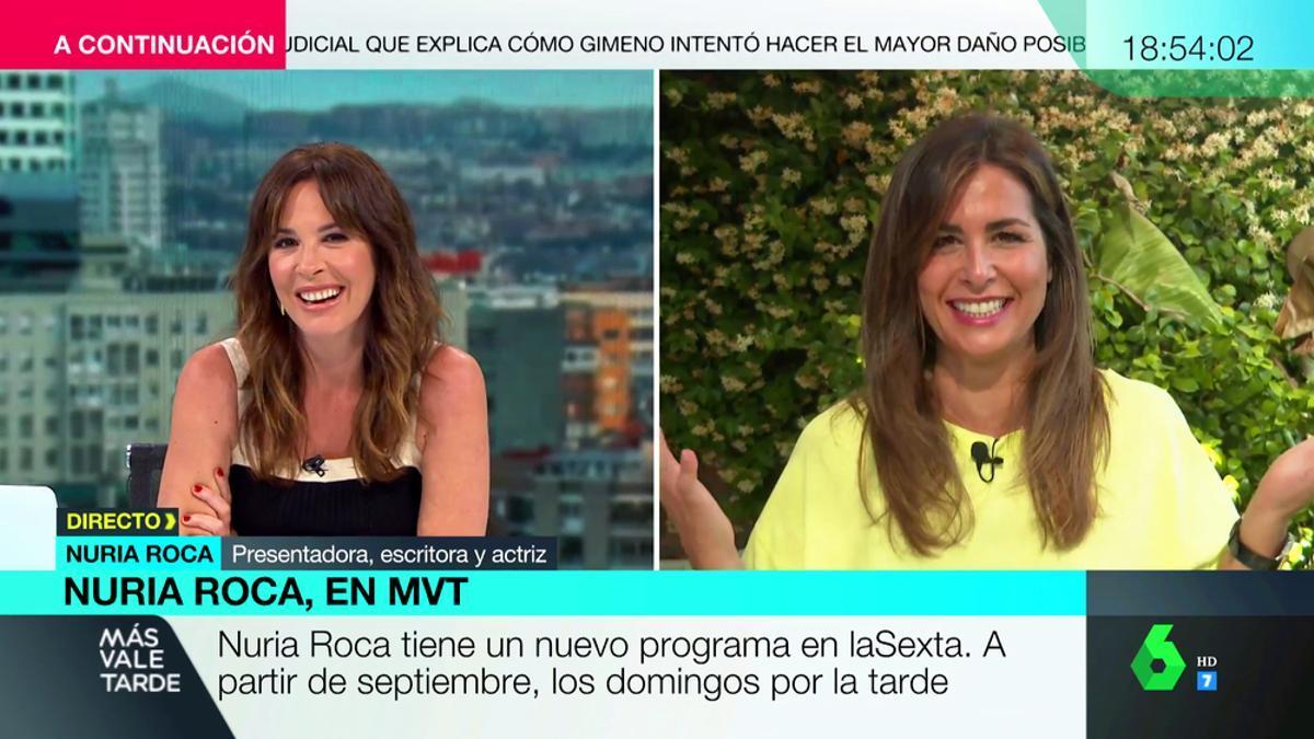 Mamen Mendizabal y Nuria Roca, juntas en 'Más vale tarde'