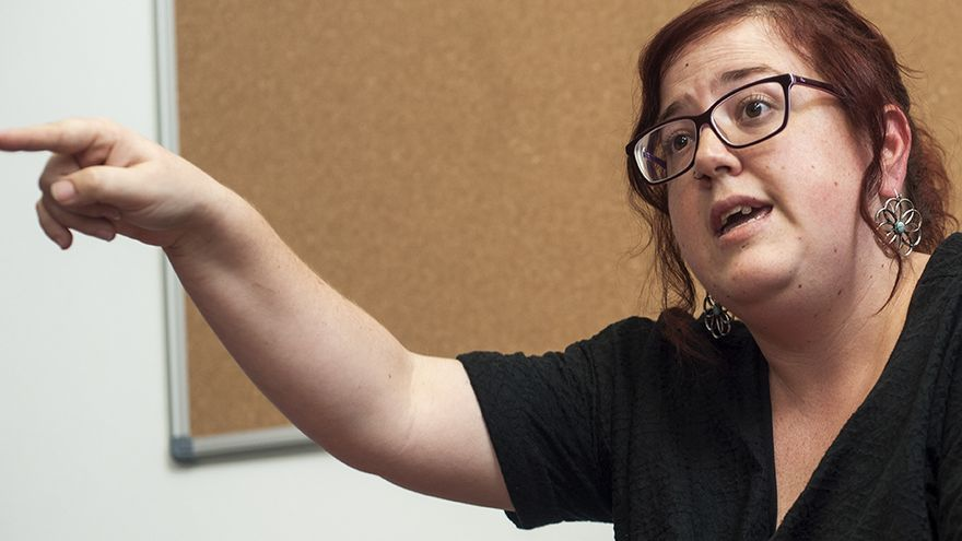 Verónica Ordóñez, portavoz parlamentaria de Podemos Cantabria. | JOAQUÍN GÓMEZ SASTRE