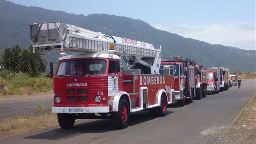 Imagen del parque móvil de Bomberos La Palma.