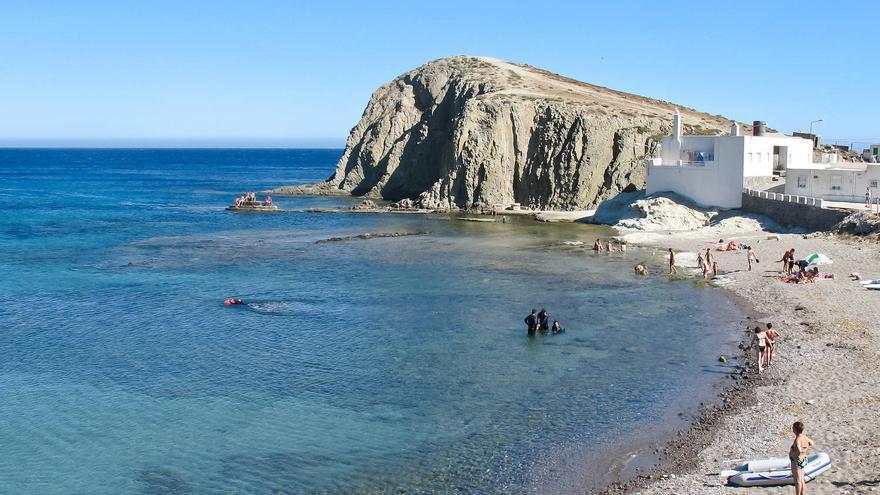 Playa de la Isleta del Moro, en Cabo de Gata.