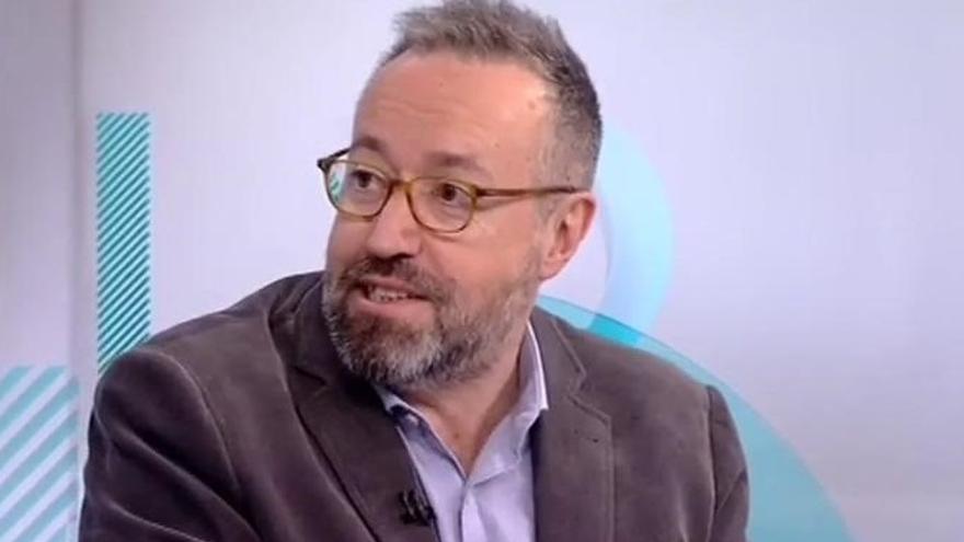 Juan Carlos Girauta, durante la entrevista en TVE.