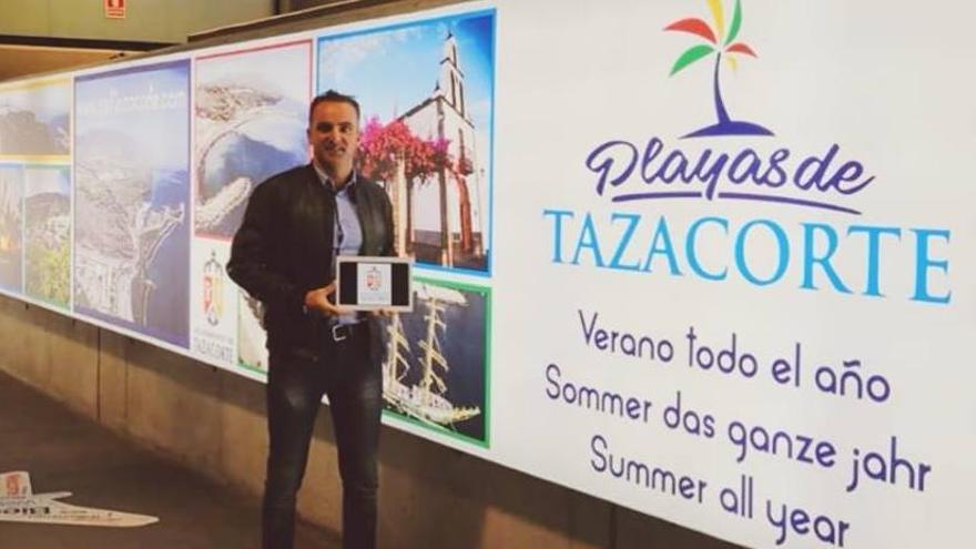 David Ruiz en el Aeropuerto de La Palma.