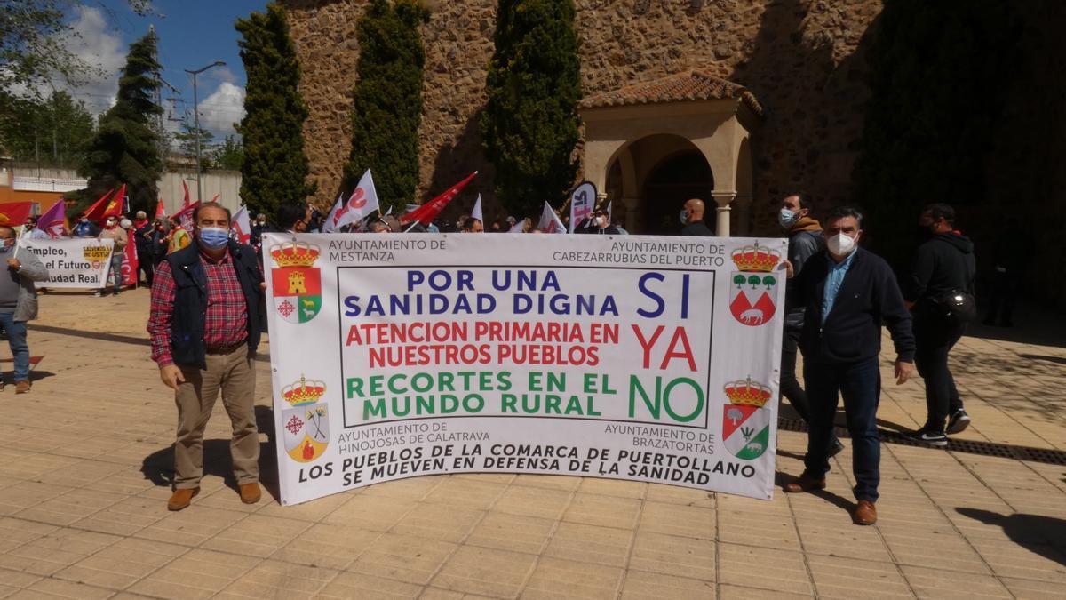 Protesta en la comarca de Puertollano por la falta de médicos