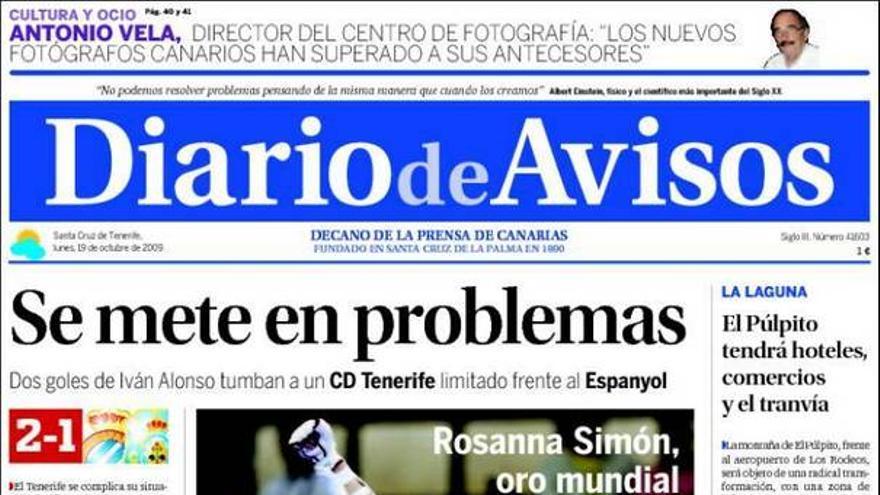 De las portadas del día (19/10/2009) #3