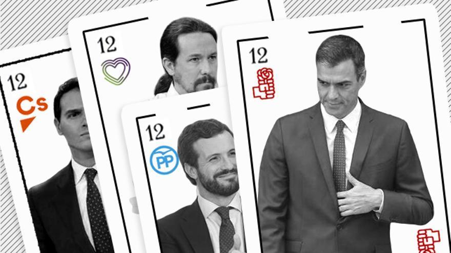 Los candidatos de PSOE, PP, Unidas Podemos y Ciudadanos, el pasado 10 de noviembre.