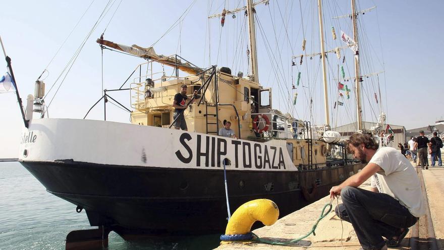 La Flotilla de la Libertad atraca en Alicante para sensibilizar sobre Gaza