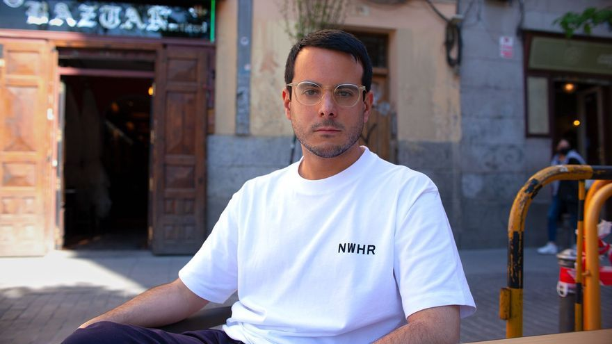 Alejandro Guillán, 'Baiuca', durante la entrevista.