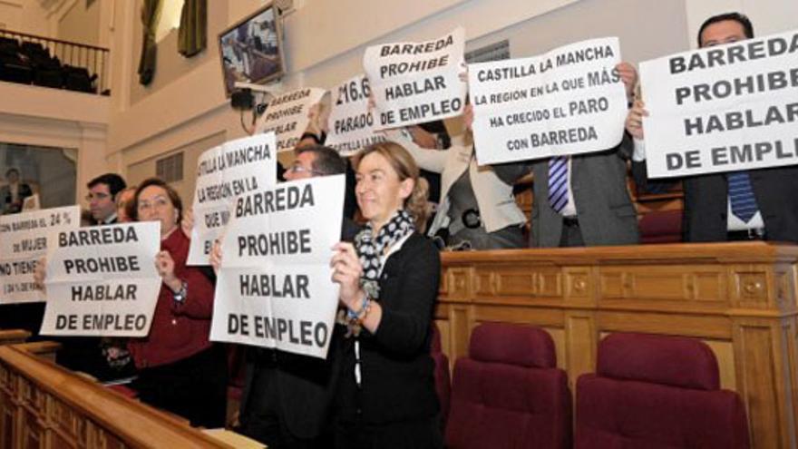 Pancartas del PP cuando era oposición en Castilla-La Mancha