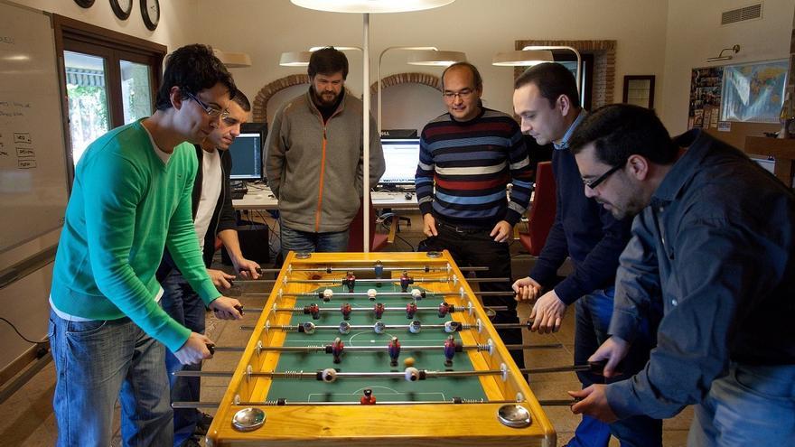 El equipo de VirusTotal, en la oficina de Málaga