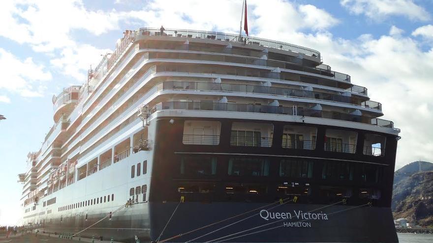 El Queem Victoria, este lunes, en el Puerto de Santa Cruz de La Palma.