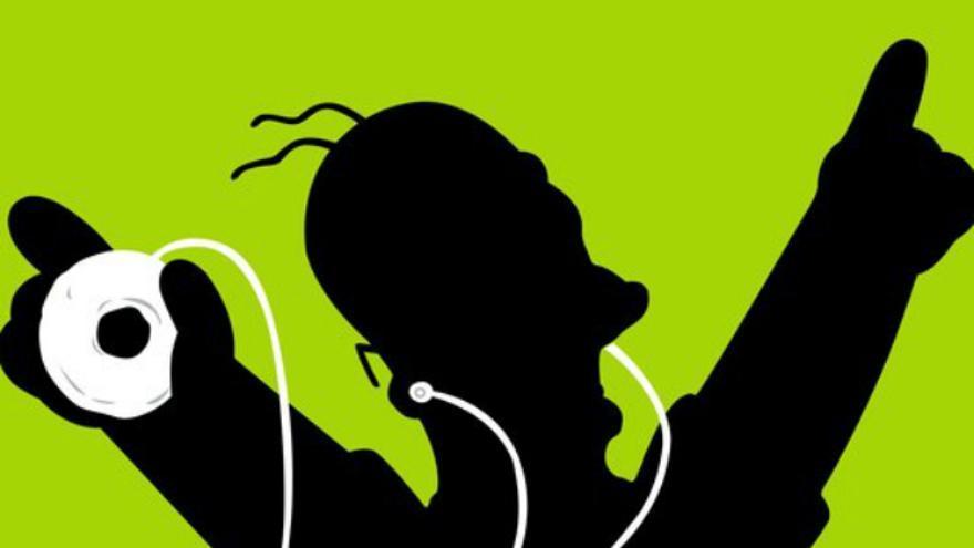 Homer Simpson escuchando música (Foto: discusionez.com)