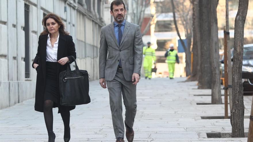 El jefe de los Mossos d'Esquadra, Ferrán López Navarro, llega al Tribunal Supremo.