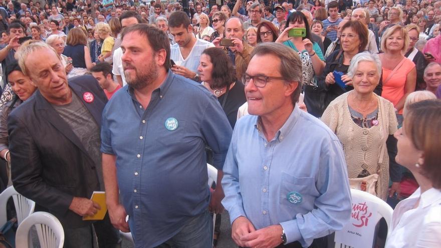 """27S- Mas pide un apoyo masivo para """"pasar por encima"""" de los poderes financieros que buscan amedrentar a los catalanes"""