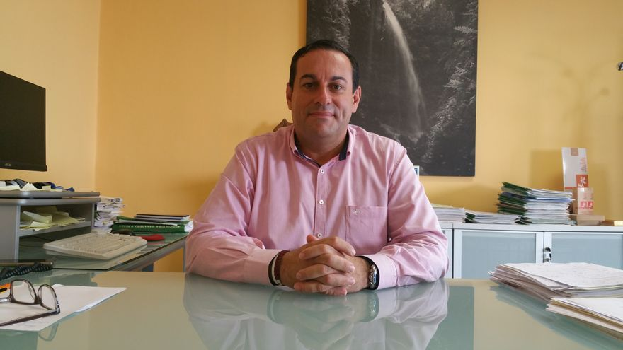 Basilio Pérez en consejero de Agricultura, Ganadería y Pesca del Cabildo. Foto: LUZ RODRÍGUEZ.