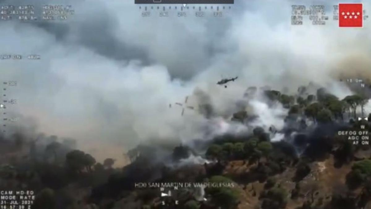Incendio en el Pantano de San Juan (Madrid)