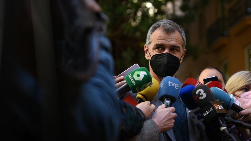 Toni Cantó, en las Cortes Valencianas, un día después de anunciar su retirada de la política