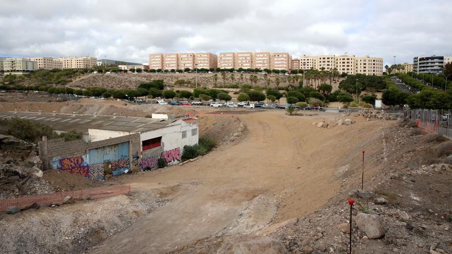Obras paralizadas de la Comisaría de Siete Palmas
