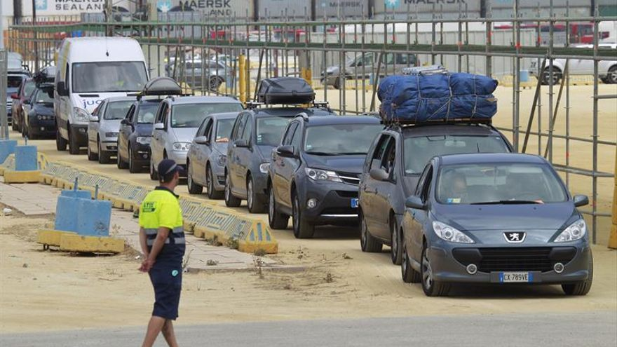 La línea marítima Algeciras-Ceuta, la segunda más utilizada en la OPE