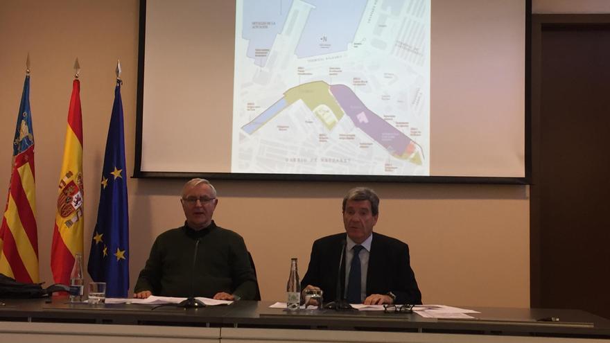 El alcalde de València, Joan Ribó, y el presidente de la Autoridad Portuaria, Aurelio Martínez