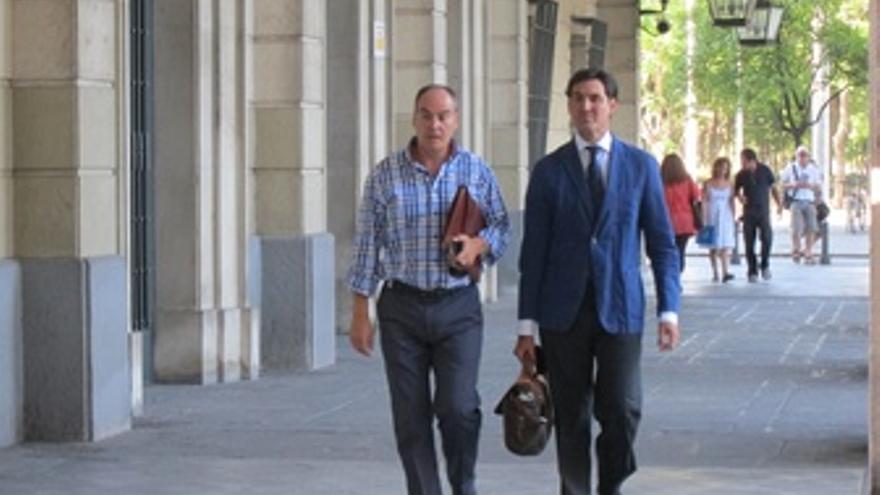 El exdirector general de Trabajo Juan Márquez a su llegada a los juzgados