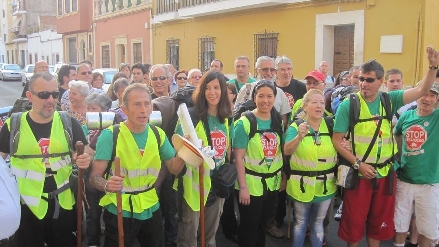 Los integrantes de la Marcha por la Dignidad llevan un mes de camino hacia Bruselas.