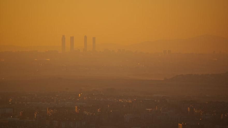Boina de contaminación de la ciudad de Madrid