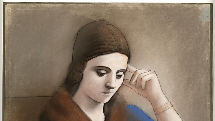 Pablo Picasso (1881-1973). Olga pensativa, 1923. Musée national Picasso-Paris. © RMN-Grand Palais / Mathieu Rabeau © Sucesión Pablo Picasso, VEGAP: Madrid, 2019.