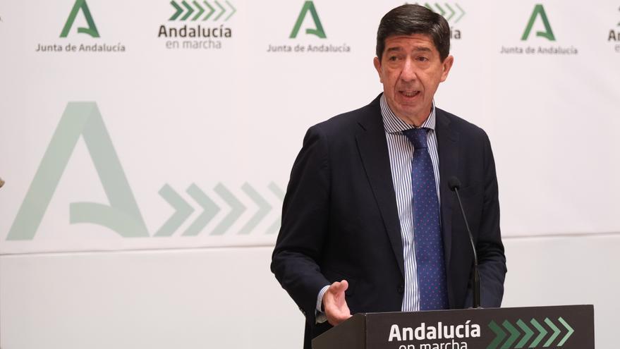 El vicepresidente de la Junta y consejero de Turismo, Regeneración, Justicia y Administración Local, Juan Marín,