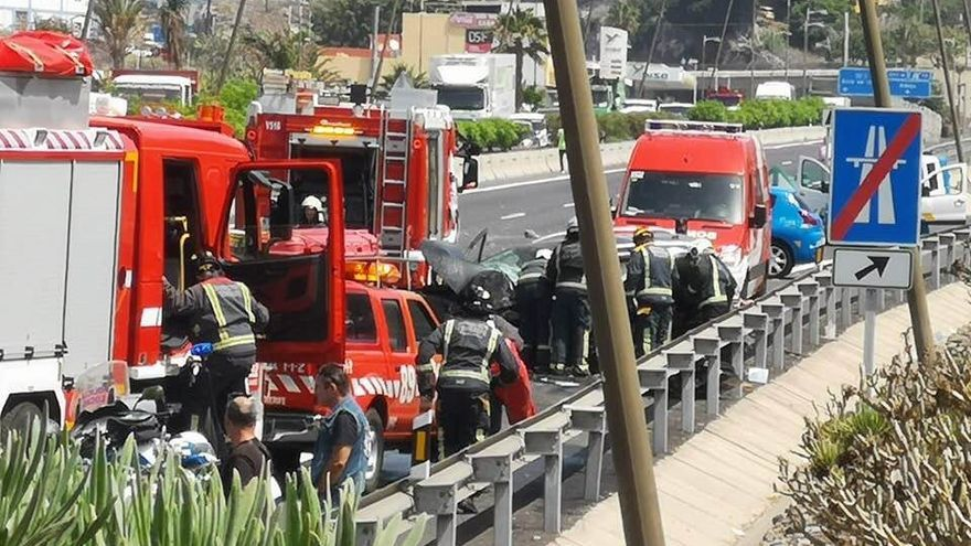 Accidente mortal en la TF-1 a la altura de Fañabé