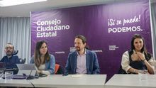 Pablo Iglesias y parte de la dirección de Podemos en una imagen de archivo.