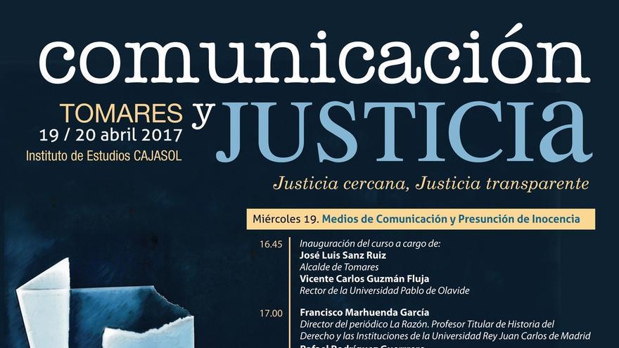 Arrancan en Tomares unas jornadas de Justicia y medios de comunicación con periodistas, jueves y profesores