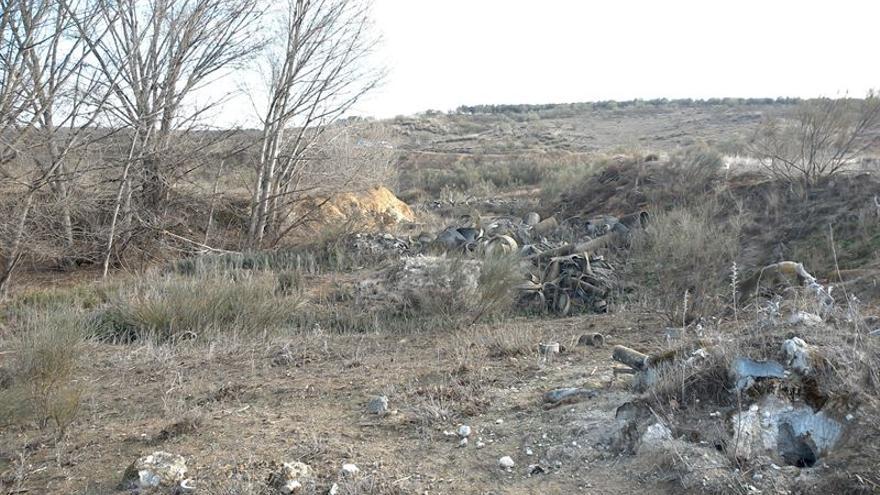 Restos de amianto en Santa María de Benquerencia (Toledo)