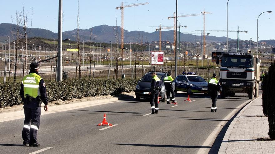 Detenida una persona en Pamplona por dar positivo en un control de alcoholemia