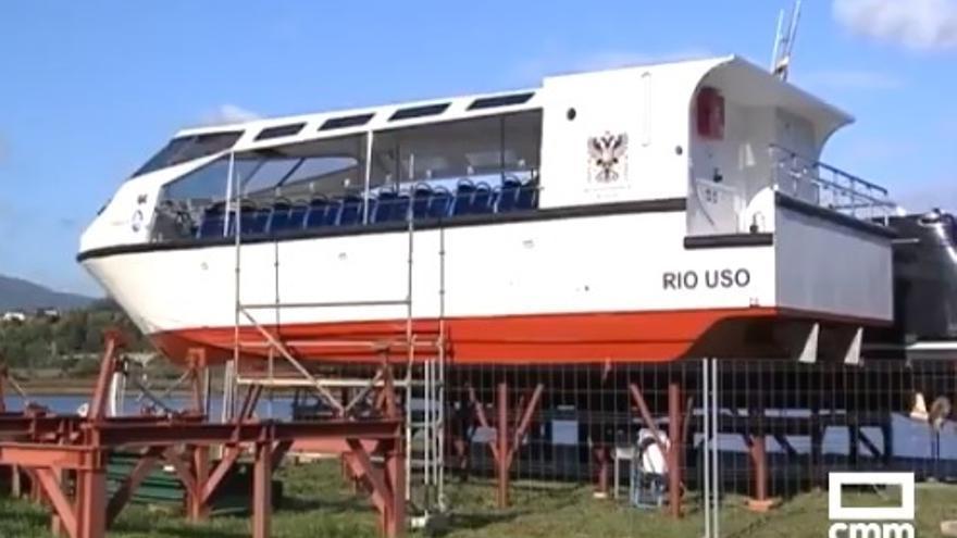 El barco destinado a navegar por el río Huso (también conocido como Uso) en Toledo