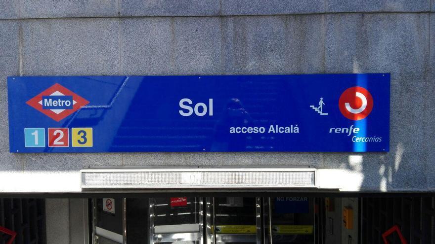 La estación de Sol, sin su patrocinio de Vodafone