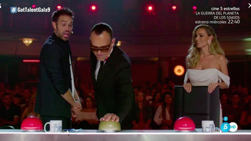 ¿Nuevo Tekilazo en 'Got Talent'? Pase de oro a un cantante mediocre tras una pelea de gallos entre Risto y Dani